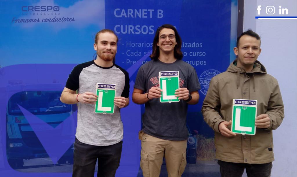 Alumnos aprobados en la Autoescuela Crespo
